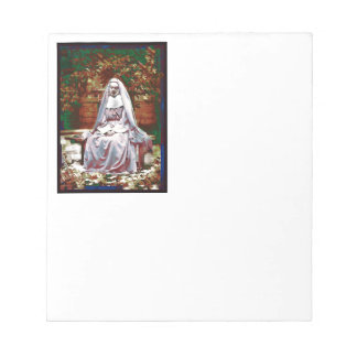French Nun in the Garden of Contemplation Notepads