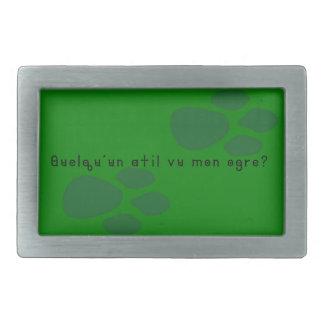 French-Ogre Rectangular Belt Buckles