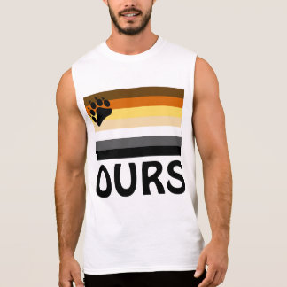 French (Ours) Gay Bear Pride Flag Sleeveless Shirt