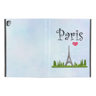 "French Paris with Eiffel Tower iPad Pro 9.7"" Case"