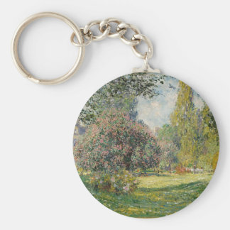 French park during the day keychain