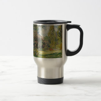 French park during the day travel mug