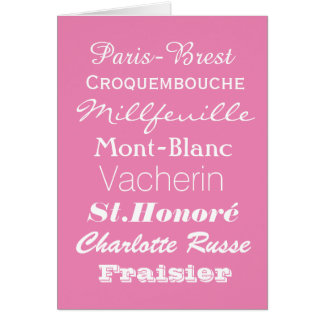 French Patiserie Greetings Card