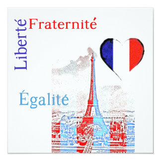 French patriotic card
