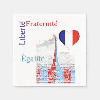 French patriotic paper napkin