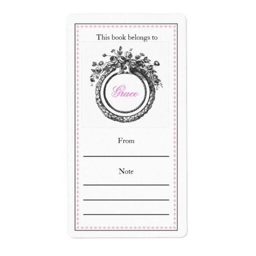 bookplate templates for word - french personalized bookplate custom shipping label zazzle