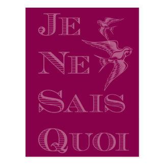 French phrase 'je ne sais quoi' certain something postcard