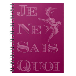 French phrase 'je ne sais quoi' certain something spiral note books
