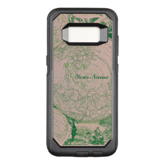 French Pink Green World Map for Samsung Galaxy