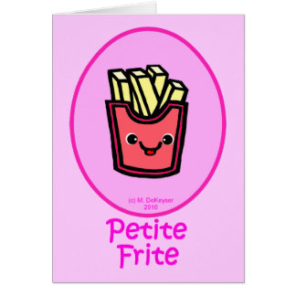 French - Pink Small Fry - French Fries Greeting Card