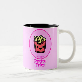 French - Pink Small Fry - French Fries Two-Tone Coffee Mug