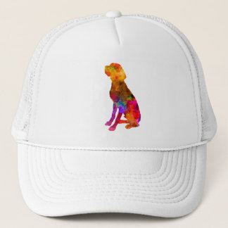 French Pointer in watercolor Trucker Hat