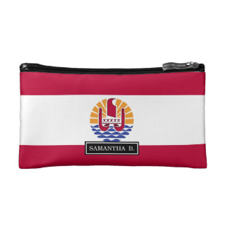 French Polenysia flag Makeup Bags