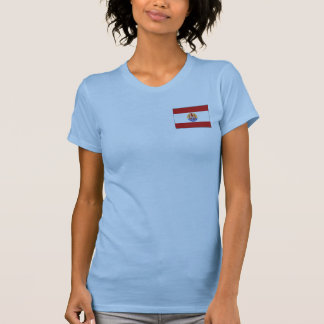 French Polynesia Flag and Map dk T-Shirt