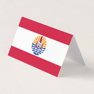 French Polynesia Flag Business Card
