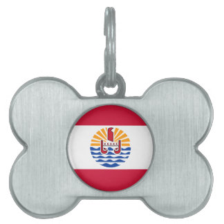 French Polynesia Flag Pet ID Tag