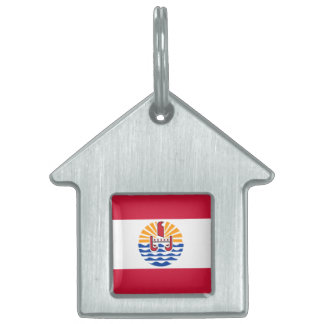 French Polynesia Flag Pet Name Tag