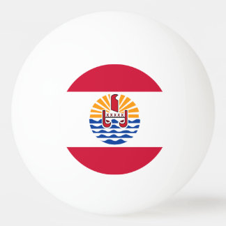 French Polynesia Flag Ping Pong Ball