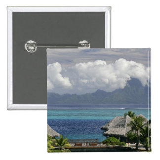 French Polynesia, Moorea. A view of the island 2 Inch Square Button