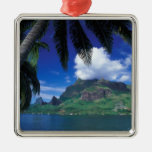 French Polynesia, Moorea. Cooks Bay. Green Metal Ornament