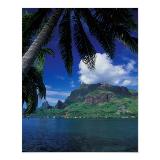 French Polynesia, Moorea. Cooks Bay. Green Poster