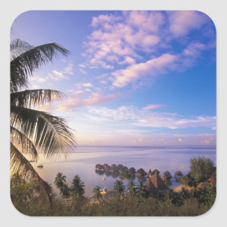 French Polynesia, Moorea. View of the Baie de Square Sticker
