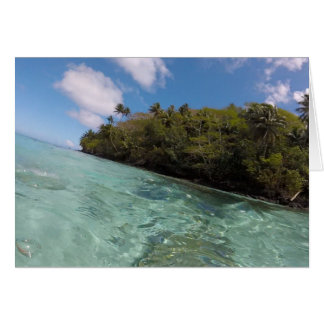French Polynesia snorkel Card