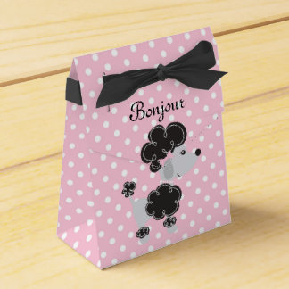 French Poodle and Pink and White Dots All Ocassion Favor Box