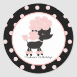 French Poodle Favour Sticker