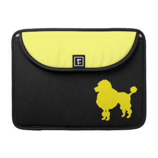 French poodle silhouette sleeve for MacBooks