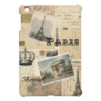 French Postcard Collage iPad Mini Case