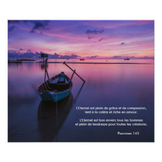 (French) Poster .. Psalm 145 Purple Serene