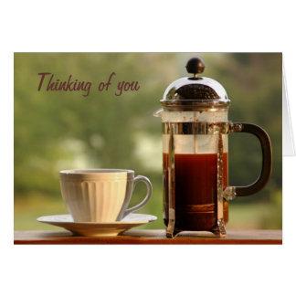 French Press Coffee Birthday Card