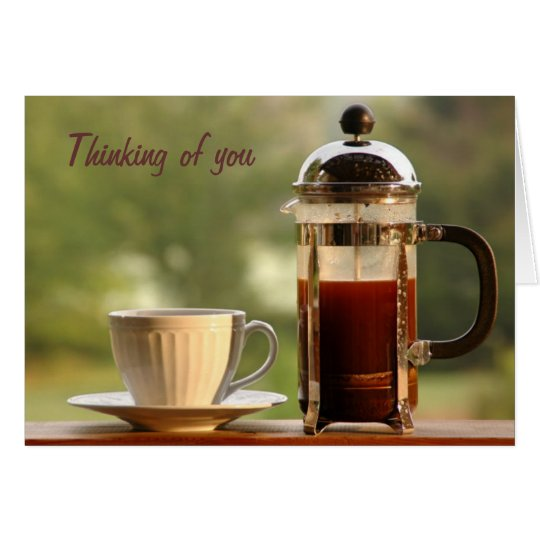 French Press Coffee Birthday Card