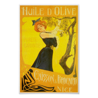 French provencal olive oil advertisement poster