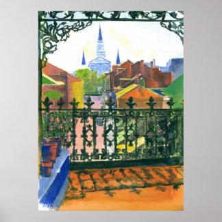 French Quarter Balcony Poster
