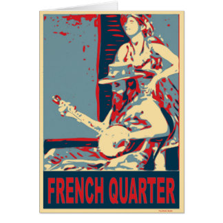French Quarter Banjo Player Card