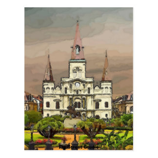 French Quarter Cathedral, New Orleans Postcard