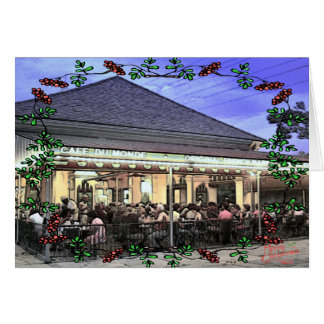 French Quarter Coffee Stand Christmas Card