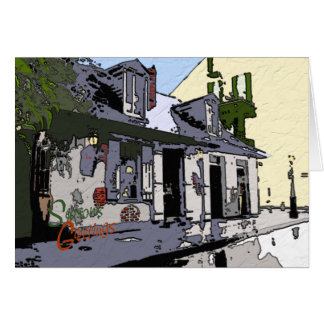French Quarter Cottage Seasons Greetings Card