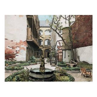 French Quarter Courtyard Postcard