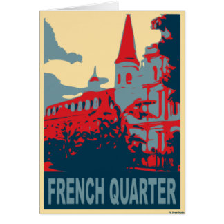 French Quarter in Blue and Red Card