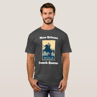 French Quarter Vintage Jackson Square Add Text T-Shirt