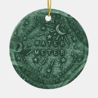 French Quarter Water Meter Ceramic Ornament