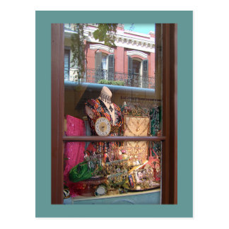 French Quarter Window Reflection Postcard