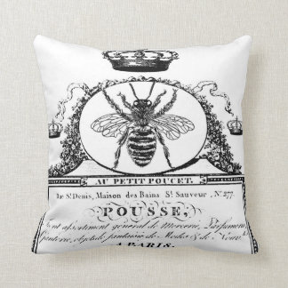 French Queen Bee Throw Pillow