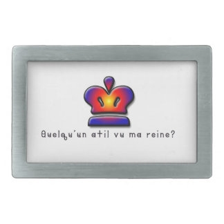 French-Queen Rectangular Belt Buckles