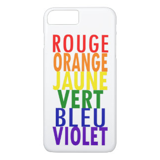 French Rainbow Colors iPhone 8 Plus/7 Plus Case