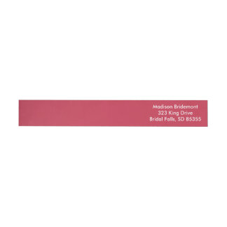 French Raspberry Cool Monochromatic Wrap Around Label