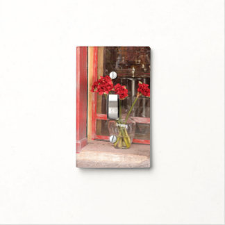 French Red Flower Light Switch Cover